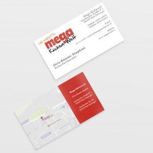 Visitenkarte Mega Küchenwelt Grafik und Design Kommunikationsdesign Layout Werbemittel