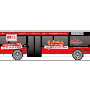 Bus Flächenplan Folie Folierung Eisenach